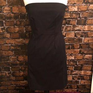 Vince black strapless dress